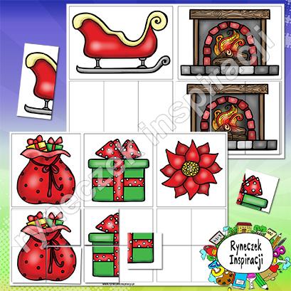 Zimowo-świąteczne puzzle