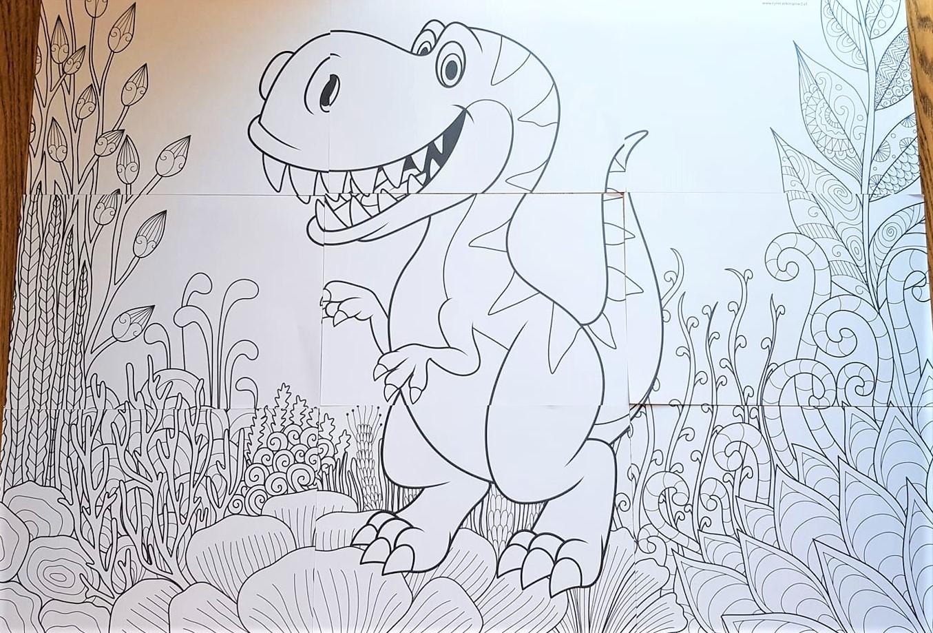 Kolorowanki Xxl Dinozaury Ryneczek Inspiracji